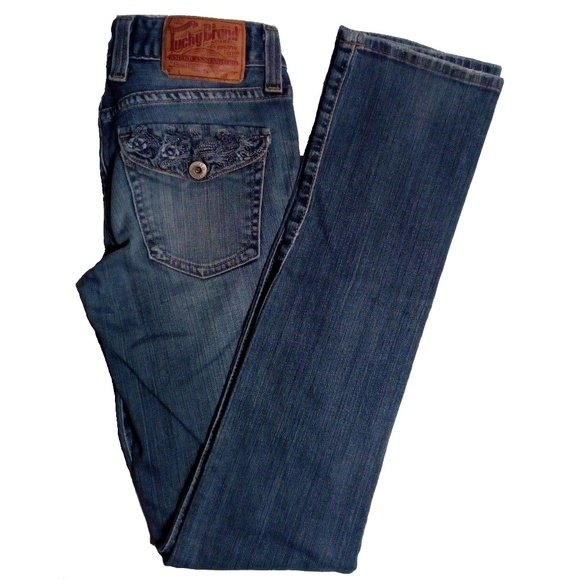 Lucky Brand Denim - Lucky Brand Lola Straight Crane Regular Length